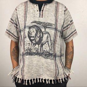 🦁 🦁 Vintage Handmade Safari Lion Poncho